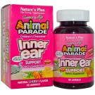 Children's Chewable Inner Ear Support, Natural Cherry Flavor (90 Animals) - Nature's Plus