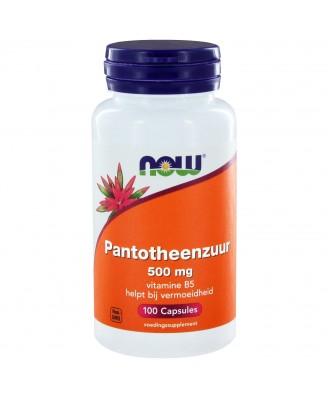 Now Foods - el ácido pantoténico 500 mg - 100 cápsulas