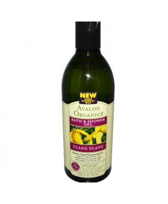 Avalon Organics, baño y Gel de ducha, Ylang Ylang, 12 onzas (355 ml)