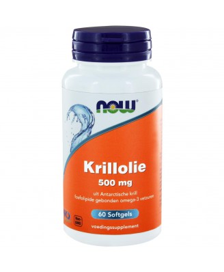 Krillolie 500 mg (60 softgels) - NOW Foods