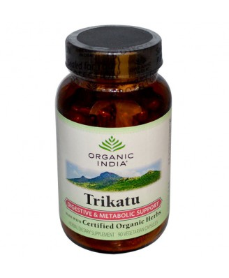 Trikatu - Digestive & Metabolic Support (90 Veggie Caps) - Organic India
