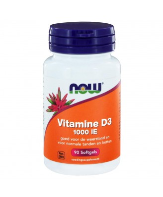 Vitamine D3 1000 IE (90 softgels) - NOW Foods