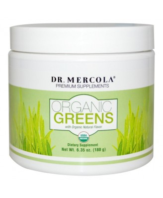 Organic Greens Natural Flavor (180 g) - Dr. Mercola