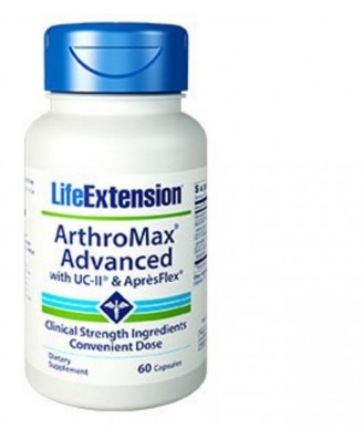Arthromax Advanced Con Uc-Ii  & Aprèsflex - 60 Cápsulas - Life Extension