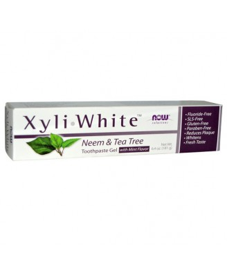 XyliWhite pasta dental Neem & Tea Tree (181 g) - Now Foods