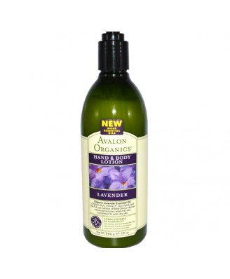 Avalon Organics, Hand & Body Lotion, Lavender, 12 oz (340 g)