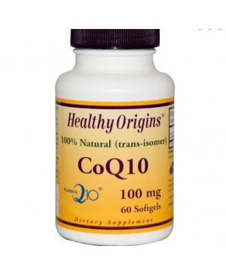 CoQ10 Gels (Kaneka Q10), 100 mg, (60 Softgels) - Healthy Origins