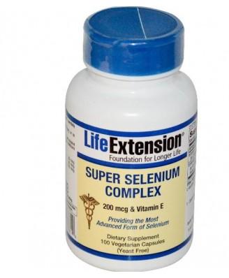 Súper Complejo Selenio 200 mcg y vitamina E (100 cápsulas vegetales) - Life Extension