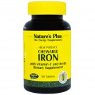 Chewable Iron, Cherry Flavor (90 Tablets) - Nature's Plus