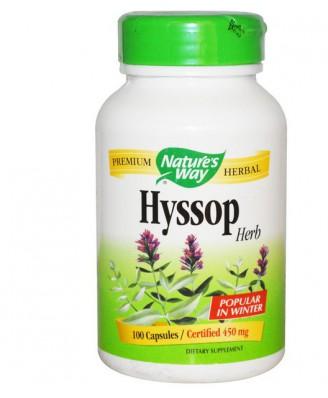 Nature's Way, Hyssop Herb, 450 mg, 100 Capsules