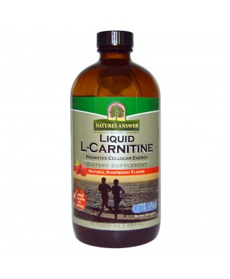 Liquid L-Carnitine, Natural Raspberry Flavor (480 ml) - Nature's Answer