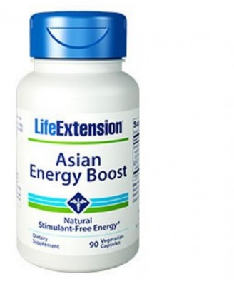 Asian Energy Boost -  90 Cápsulas Vegetarianas – Life Extension