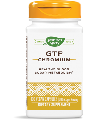 GTF CHROMIUM- POLYNICOTINATE (100 CAPSULES) - NATURE'S WAY