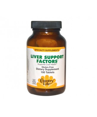 Liver Support Factors (100 Vegan Capsules) - Country Life