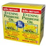 Bretaña real aceite de onagra 500 mg - 2 botellas -200 cápsulas - American Health