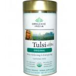 Organic India  - té de Tulsi, hojas sueltas - Original, libre de cafeína, 3.5 oz (100 g)