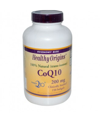 CoQ10 Kaneka Q10 200 mg (60 Softgels) - Healthy Origins