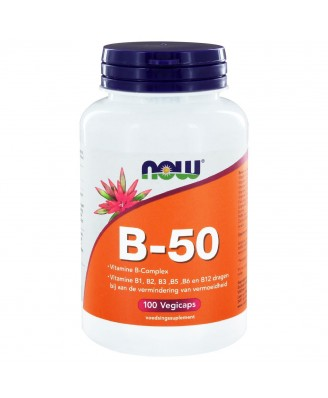 B-50 Vitamine B-Complex (100 vegicaps) - NOW Foods