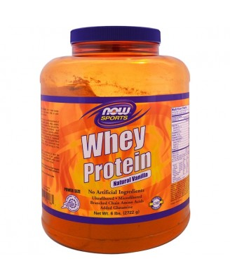 Whey Protein- Natural Vanilla  (2722 gram) - Now Foods
