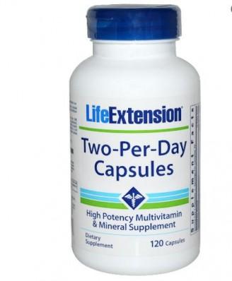 Twee Per Dag Multivitamine (120 Caps) - Life Extension