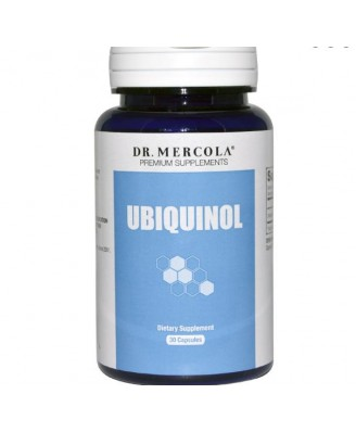 Dr. Mercola, Ubiquinol, mayor bioactividad CoQ10, 100 mg, 30 capsulas Licaps