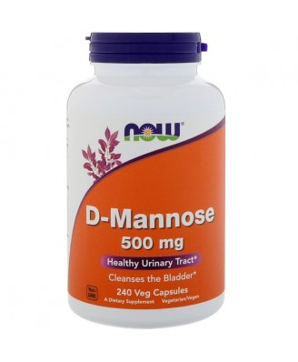 D-Mannose- 500 mg (240 Vegetarian Capsules) - Now Foods