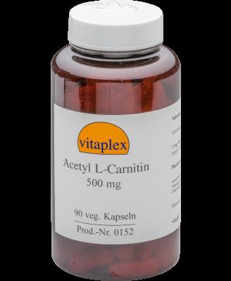 Acetyl L-Carnitin 500 mg  (90 vegetarian capsules) - Vitaplex