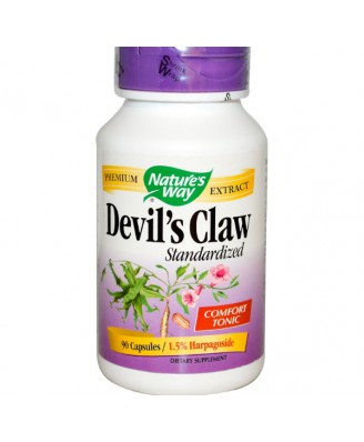 Nature's Way, Devil's Claw, Standardized, 90 Capsules