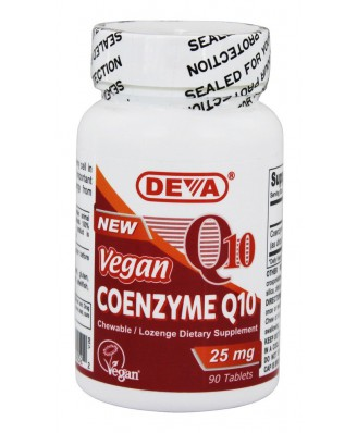 Vegan Coenzyme Q10 25 mg (90 Tablets) - Deva