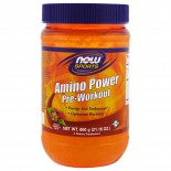 Amino Power Pre-Workout- Natural Raspberry Flavor (600 gram) - Now Foods
