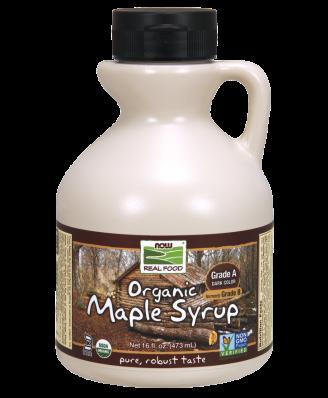 Now Foods - jarabe de arce orgánico, grado B, profundos ricos en sabor 16 fl oz (473 ml)