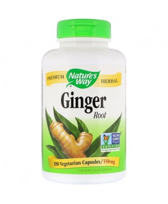 Nature's Way, Ginger Root, 550 mg, 180 Capsules