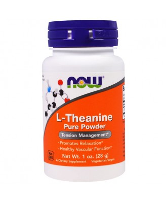 L-Theanine- Pure Powder (28 gram) - Now Foods