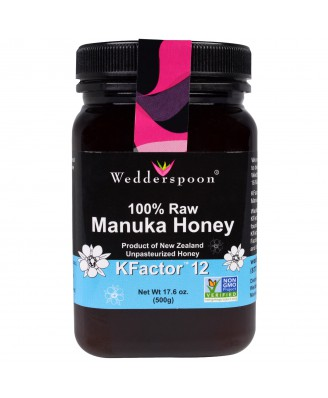 Wedderspoon Organic, Inc., 100% Raw Manuka Honey, KFactor 12, 17.6 oz (500 g)