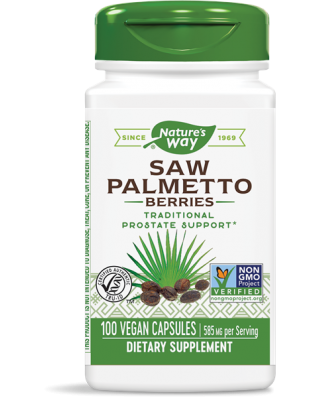 SAW PALMETTO BESSEN 585 MG (100 CAPSULES) - NATURE'S WAY