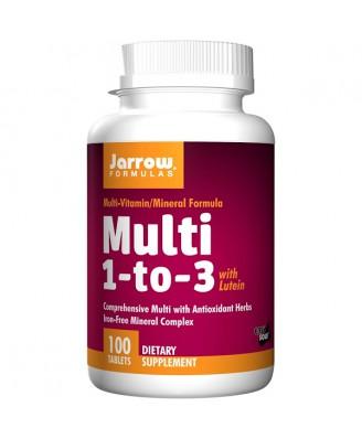 Jarrow Formulas- Multi 1-to-3- with Lutein- Iron-Free- 100 Tablets