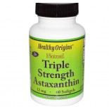 Healthy Origins - Astaxanthin Natural Fuerza Triple 12 mg - 60 cápsulas