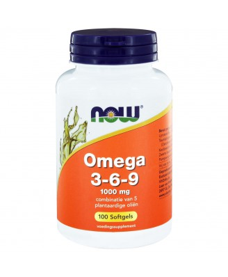 Omega 3-6-9 1000 mg (100 softgels) - NOW Foods