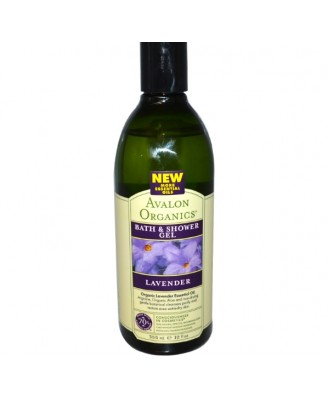 Baño y Ducha Gel, lavanda (355ml) - Avalon Organics
