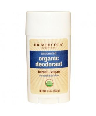 Organic Deodorant Unscented (70 gram) - Dr. Mercola