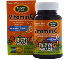 Vitamin C, Sugar Free, Natural Orange Juice Flavor (90 Animals) - Nature's Plus