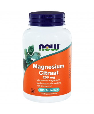 Magnesium Citraat 200 mg (100 tabs) - NOW Foods