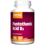 Jarrow Formulas, Pantothenic Acid B5, 500 mg, 100 Capsules