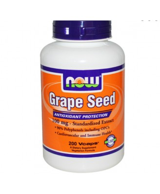 Now Foods, Grape Seed, 100 mg, 200 Vcaps