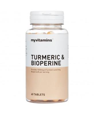 Myvitamins Turmeric & Bioperine, 60 Tablets (60 Tablets) - Myvitamins