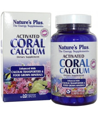 Activated Coral Calcium (90 Vegetarian Capsules) - Nature's Plus