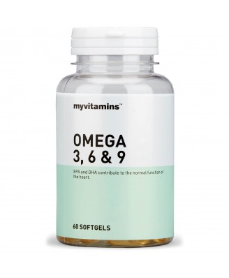 Myvitamins Omega 3, 6 & 9, 60 Soft Gels (60 Softgels) - Myvitamins