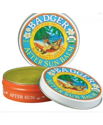 Badger Company, Organic After Sun Balm, Blue Tansy & Lavender, .75 oz (21 g)