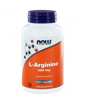 500 mg de L-arginina (100 cápsulas) - Now Foods
