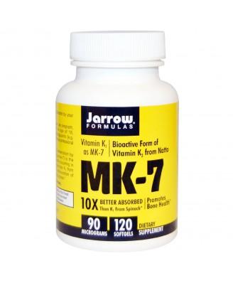 Jarrow Formulas, MK-7, Vitamin K2 as MK-7, 90 mcg, 120 Softgels